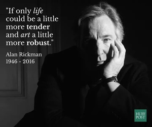 alan rickman, quote, and rip image