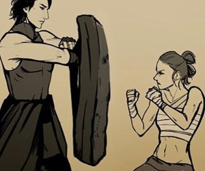 reylo, rey, and star wars image