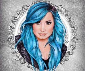 demi lovato, demi, and drawing image