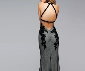 black, ivory, and open back image