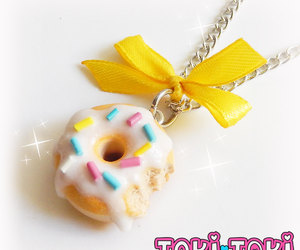 etsy, food jewelry, and polymer clay donut image