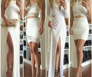 white, dress, and outfit image