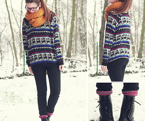 boots, cozy, and girl image