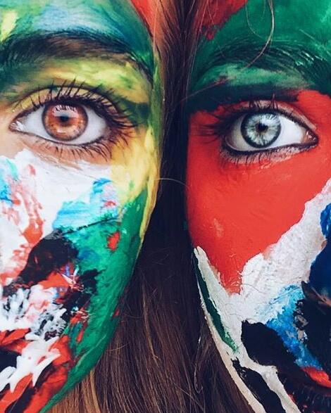 eyes, art, and girls image