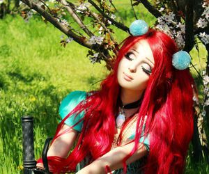 beauty, red hair, and sunshine image