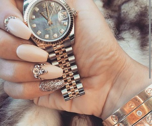 nails, fashion, and watch image