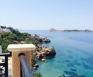 blue, Greece, and summertime image