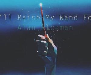 crying, alan rickman, and harry potter image