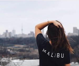 girl, fashion, and malibu image