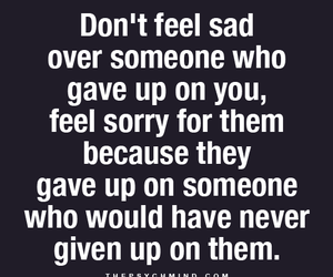 quote, sorry, and give up image