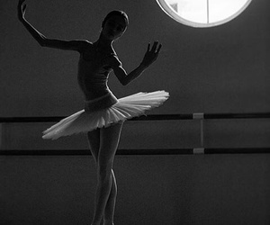 ballet, fit, and black and white image