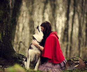beautiful, red riding hood, and enchanting image