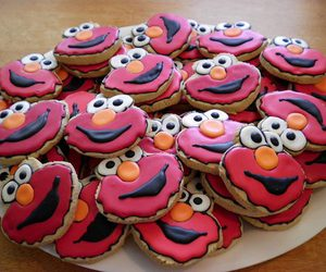 Cookies, elmo, and food image