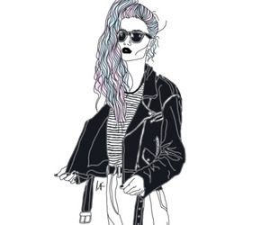outline, grunge, and tumblr image