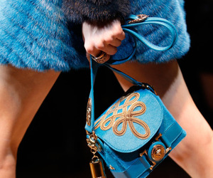 blue, fashion, and Versace image