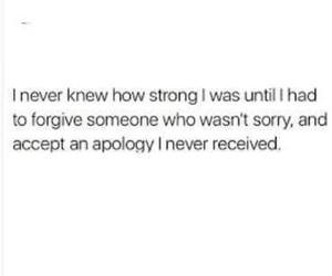strong, apology, and quote image