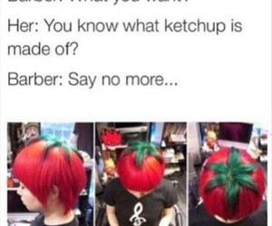 hair, funny, and tomato image