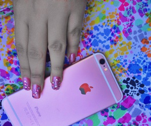 color, nails, and iphone image