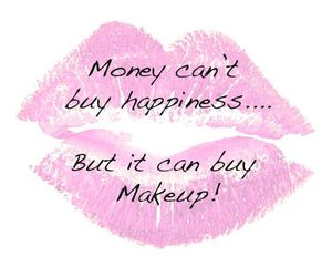 makeup, quote, and money image