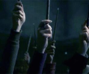 alan rickman and wand image