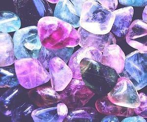 stone, purple, and crystal image