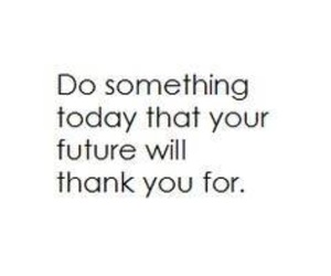 future, quote, and life image