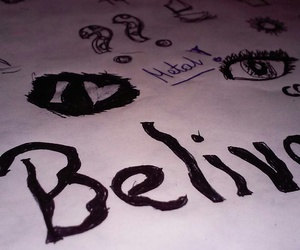 belive, draw, and napisy image