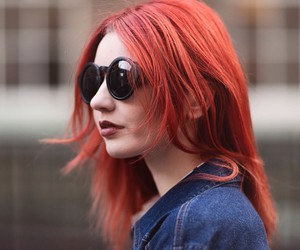dyed hair, alternative, and red hair image