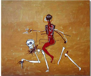 Jean-Michel Basquiat and painting image
