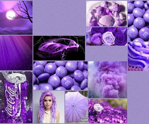 purpel pic collage image
