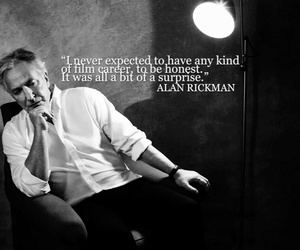 alan rickman, always, and black and white image