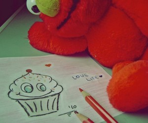 elmo, cupcake, and life image