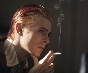 david bowie, cigarette, and bowie image