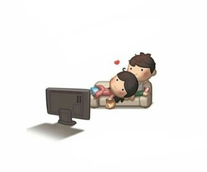 couple, romantic, and tv image