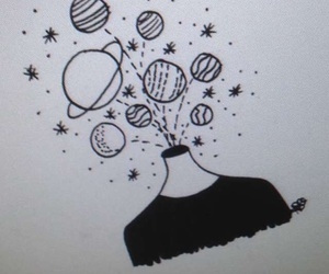 galaxy, homework, and planets image