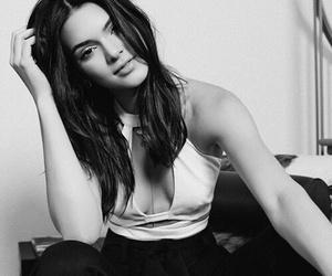 black and white, model, and khloe kardashian image
