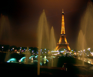 city, paris, and lights image
