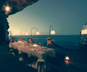 cave, light, and restaurant image