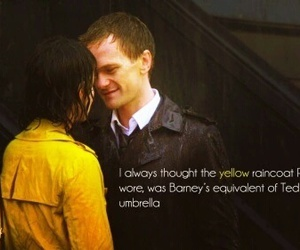 himym, yellow umbrella, and love image