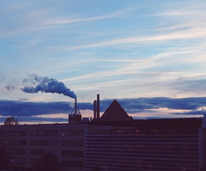 factory, finland, and sky image