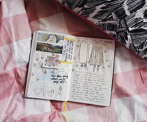 art, diary, and drawing image