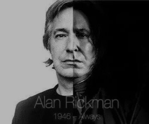 alan rickman, harry potter, and rip image