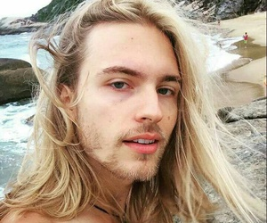 beach, surf, and blond image
