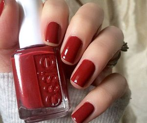 nails, essie, and manicure image