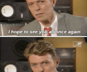 david bowie, i miss you, and rip image
