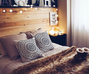 decor, bed, and bedroom image