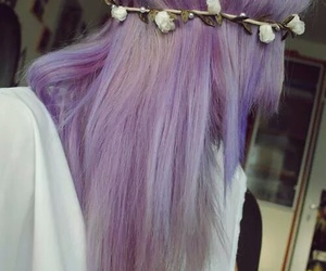 girl, heartit, and purplehair image