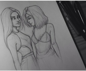 girls, Kendall, and draw image