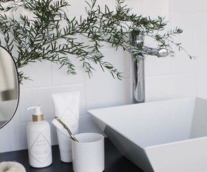 white, bathroom, and decoration image
