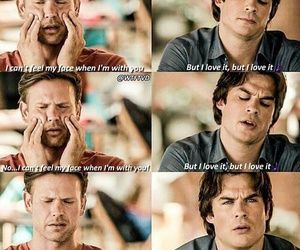 damon, funny, and alaric image
